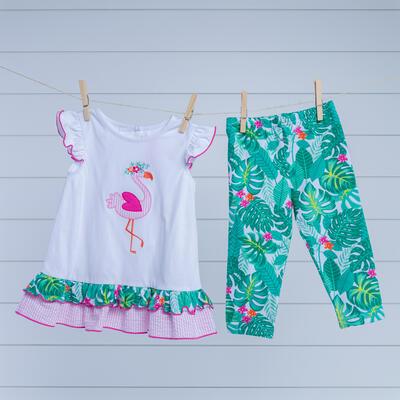 842457066ca5d Toddler Flamingo Applique Legging Set
