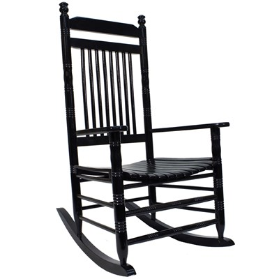 Slat Rocking Chair - Black