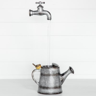 Watering Can and Faucet Fountain