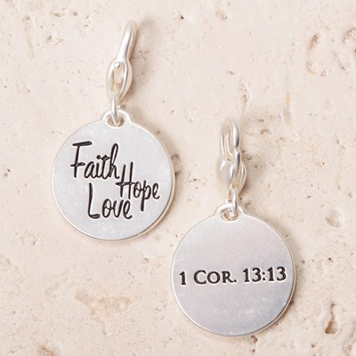 """Faith Hope Love"" 1 Cor. 13:13 Charm"