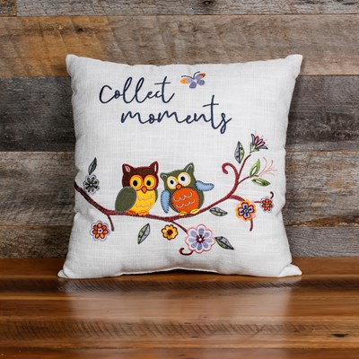 """Collect Moments"" Decorative Pillow"