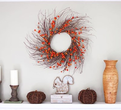 "24"" Faux Bittersweet Wreath"