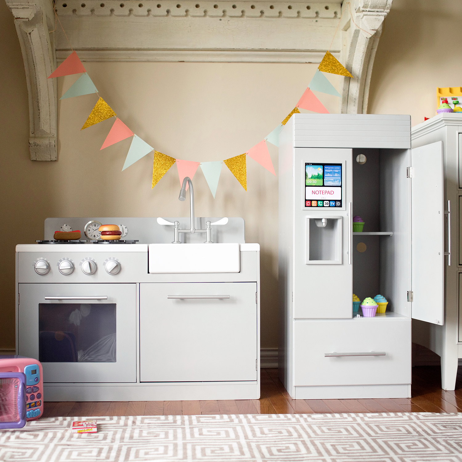 Kitchen with Refrigerator Play Set