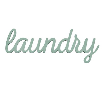 """Laundry"" Wood Typography Wall Art"