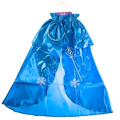 Blue Princess Dress Up Cape Set