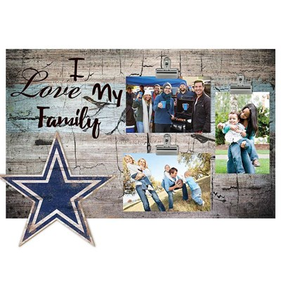 Dallas Cowboys - I Love My Family Clip Frame