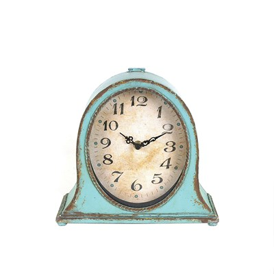 Blue Mantel Clock