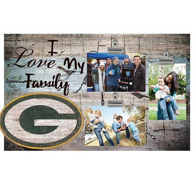 Green Bay Packers - I Love My Family Clip Frame