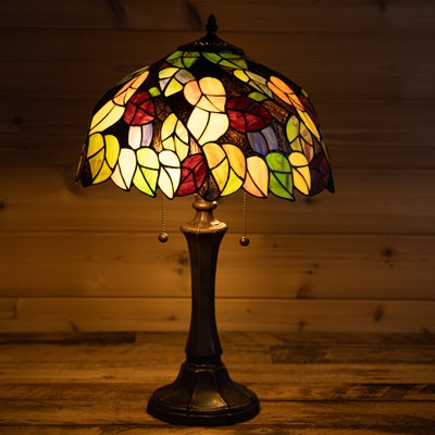Harvest Stained Glass Table Lamp