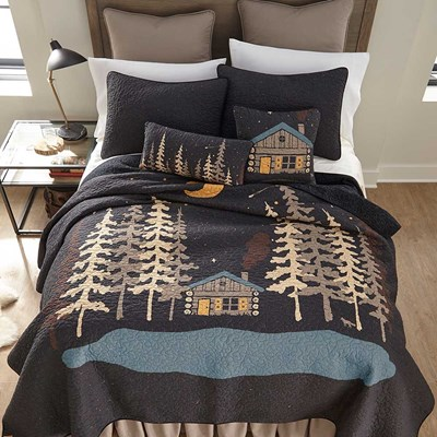 Moonlit Cabin Quilt by Donna Sharp - Twin