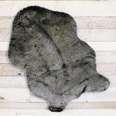 Faux Fur Grey Pelt