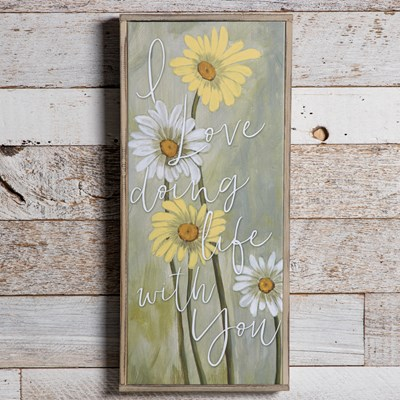 Framed Daises Canvas