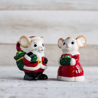 Christmas Mice Salt and Pepper Shaker Set