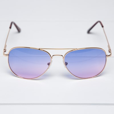 Women's Purple Aviator Sunglasses