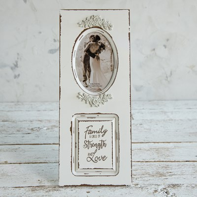 Wood Door Photo Frame with Sentiment