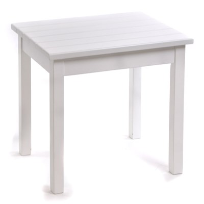 Square-Leg Side Table - White