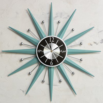 Retro Metal Wall Clock
