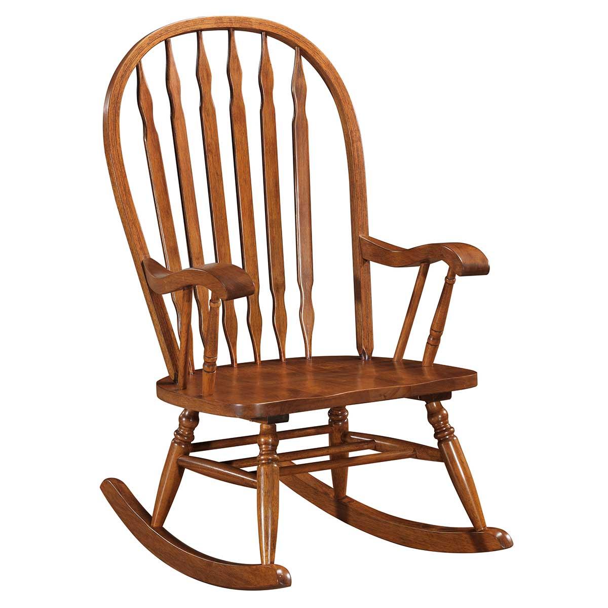 Classic Americana Style Windsor Rocker   Oak