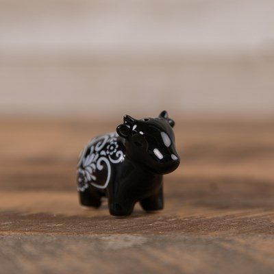 Black Cow Pepper Shaker