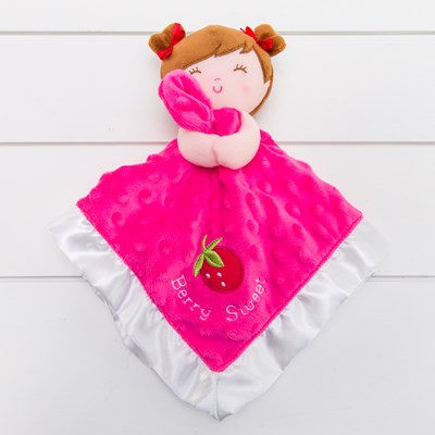 Berry Sweet Strawberry Lovie Blanket