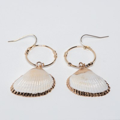 Cowrie Shell Earring