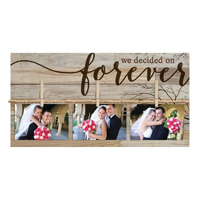 """We Decided on Forever"" Photo Board Wall Decor"