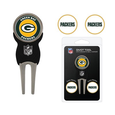 Divot Tool and Golf Ball Marker Pack - Green Bay Packers