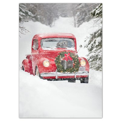 Dog Couple in Red Truck Cards - Set of 6