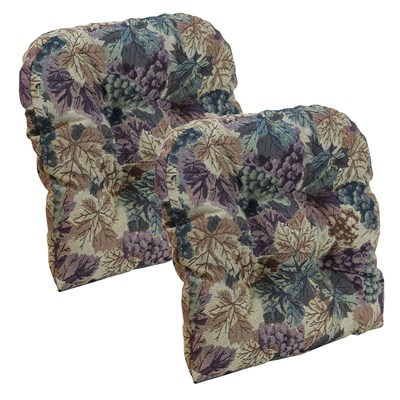 Cabernet Tufted Universal Chair Cushion-2 Pack