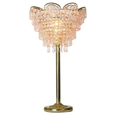 Cascading Crystal Table Lamp