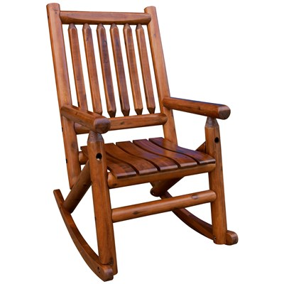 Amber-Log Wooden Rocker