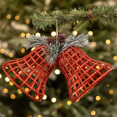 Red Glitter Bell Ornament