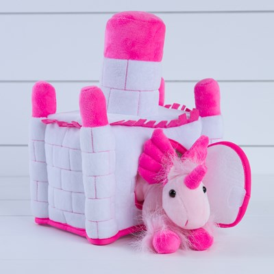 Plush Castle with Unicorn