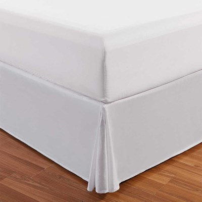 White Bedskirt - King