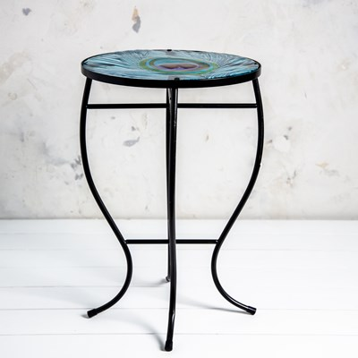 Peacock Feather Side Table