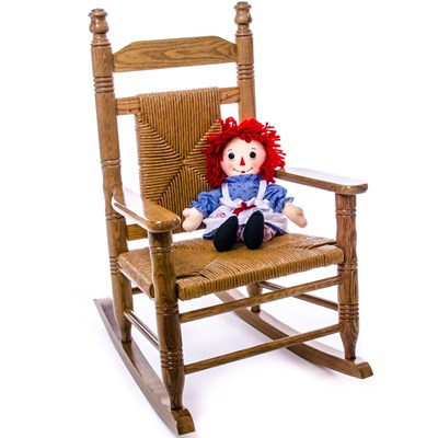 Woven Child Seat Rocking Chair - Hardwood