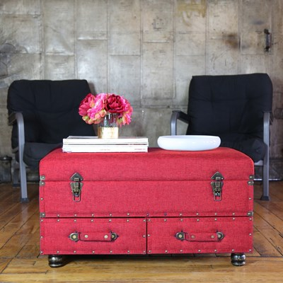 Linen Storage Trunk - Red