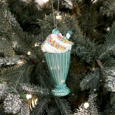 Shiny Ice Cream Float Ornament