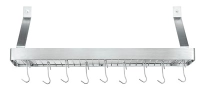 Cuisinart Brushed Stainless Steel Shelf Hanging Cookware Rack