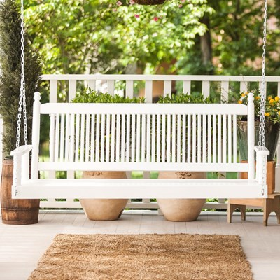5' Porch Swing - White