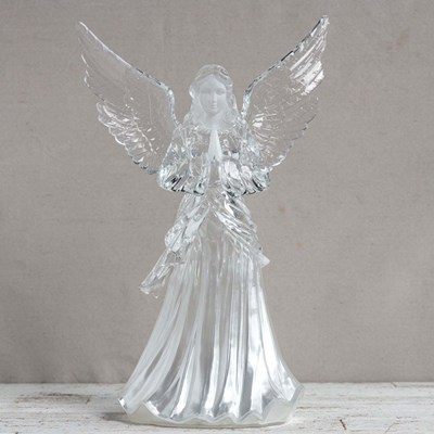 Lighted Acrylic Angel - Large