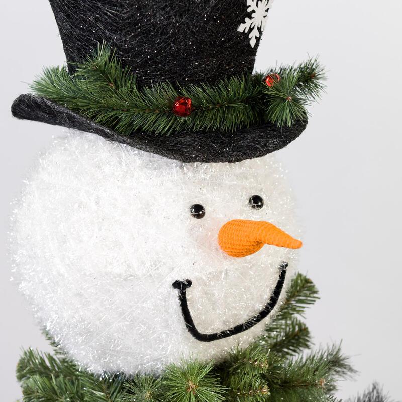 Snowman Head Tree Topper 2