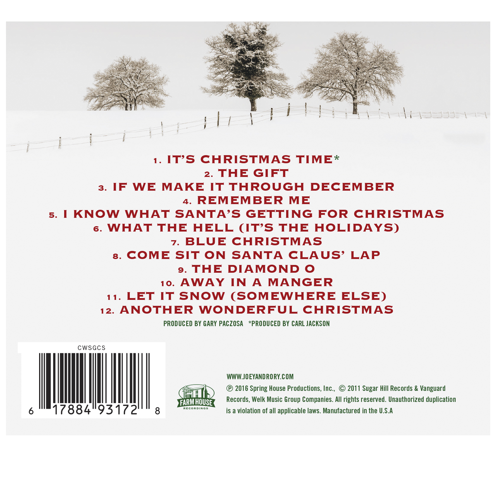 Joey+Rory - Farmhouse Christmas CD | Music | Country Today - Cracker ...