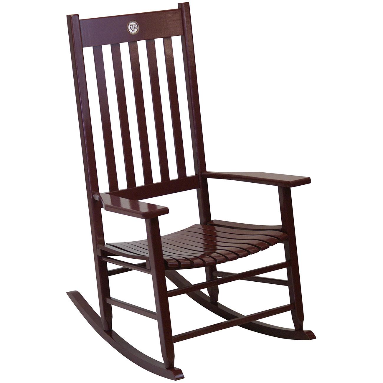 Prime Team Color Rocking Chair Texas Am Unemploymentrelief Wooden Chair Designs For Living Room Unemploymentrelieforg