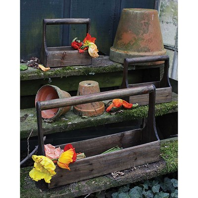 Wood Planter Baskets - Set of 3