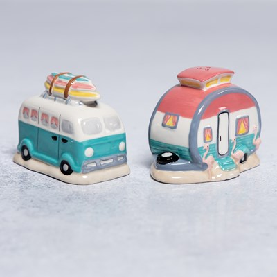 Flamingo Camper Salt And Pepper Set