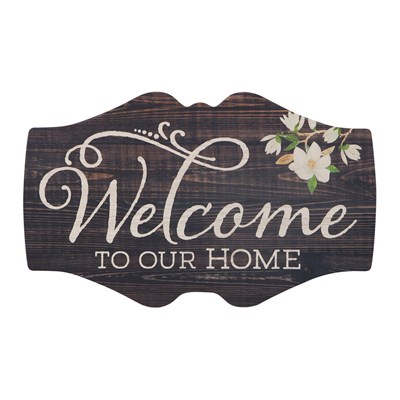 """Welcome To Our Home"" Vintage Signature Sign"