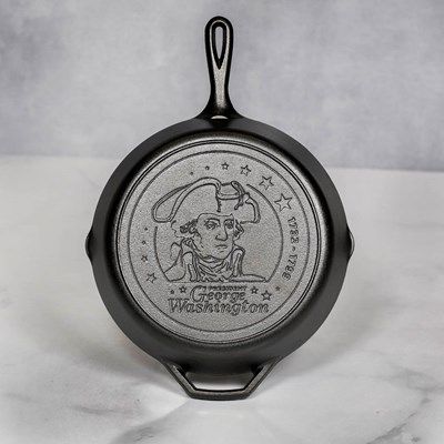 "12"" George Washington Cast Iron Skillet"