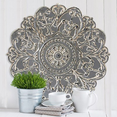 Grey Medallion Wall Decor