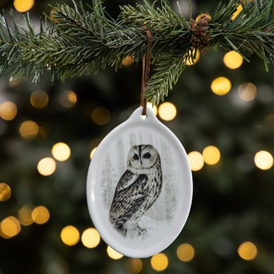 Ceramic Plaque Ornament - Owl